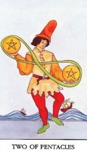 tarot-karte-mala-arkana-dvojka-diskova-ili-novcica