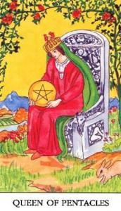 tarot-karte-mala-arkana-kraljica-diskova-ili-novcica